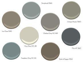 Coolest Gray Paint Colors Ideas with Benjamin Moore Antique Pewter: Benjamin Moore Beige | Benjamin Moore Antique Pewter   | Lowes Paint Swatches