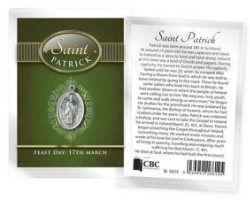 Saint Patrick Oxidized Medal.