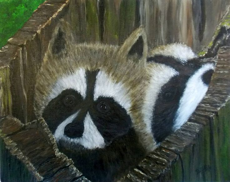 Double Trouble. Original on canvas board, prints available.