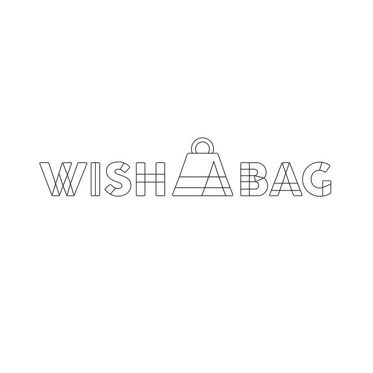 """Diseño de logo realizado para la tienda online y app de moda especializada en venta de marroquineria de autor """"WISH A BAG"""". Diseño realizado por la agencia de publicidad y diseño Laboratorio Grafico Bogotá."""
