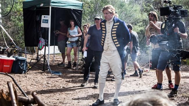 David Wenham appears as Arthur Phillip at Manly Dam for BBC TV convict show Banished