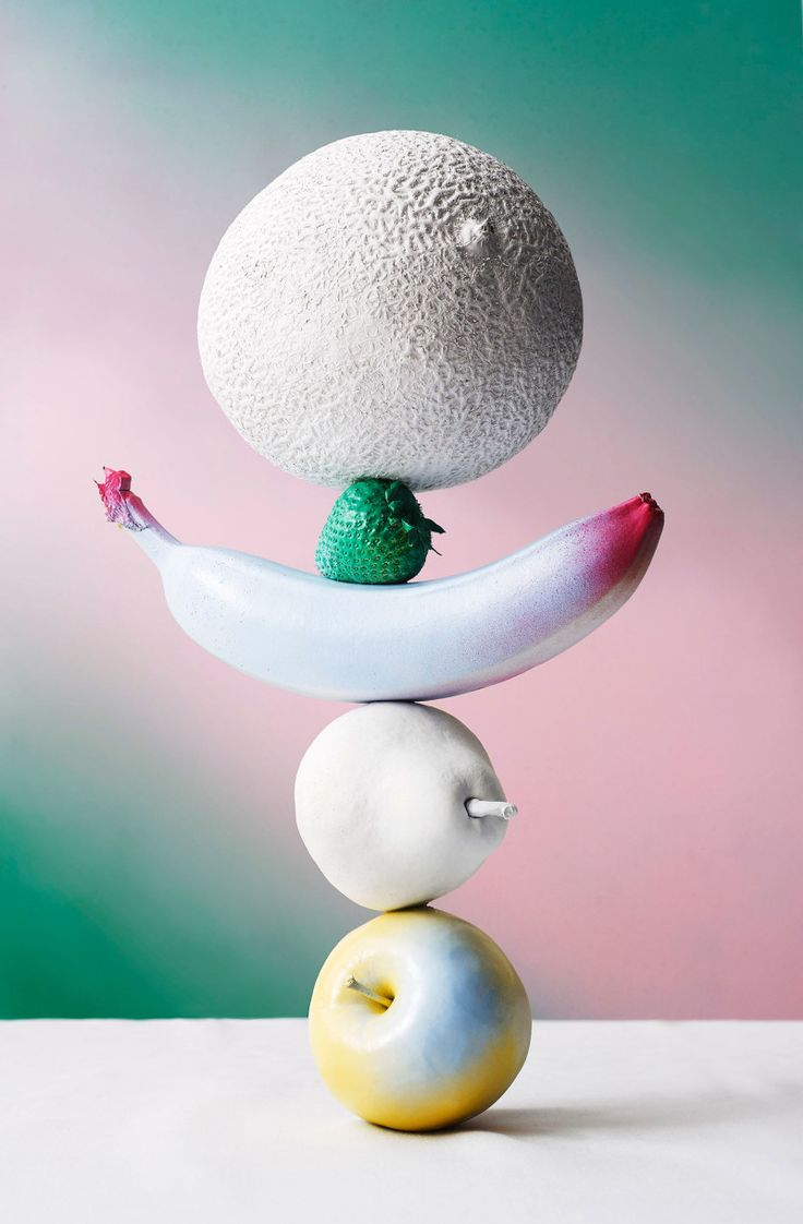 Produced Illusion - Andre Rucker #fruits #colours #illusion