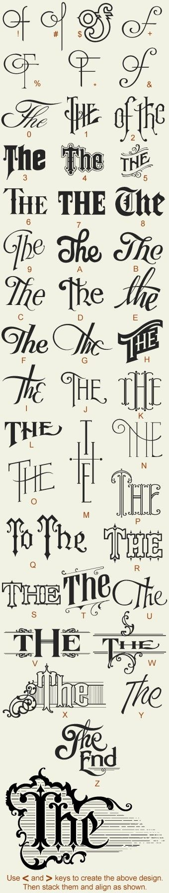 hand drawn typography by lara  www.anchorpress.com
