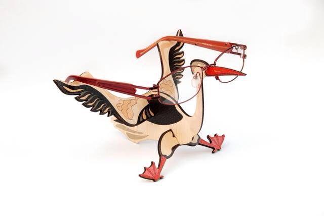 #display made of #wood #stork #glasses #frame #creative #design #optical
