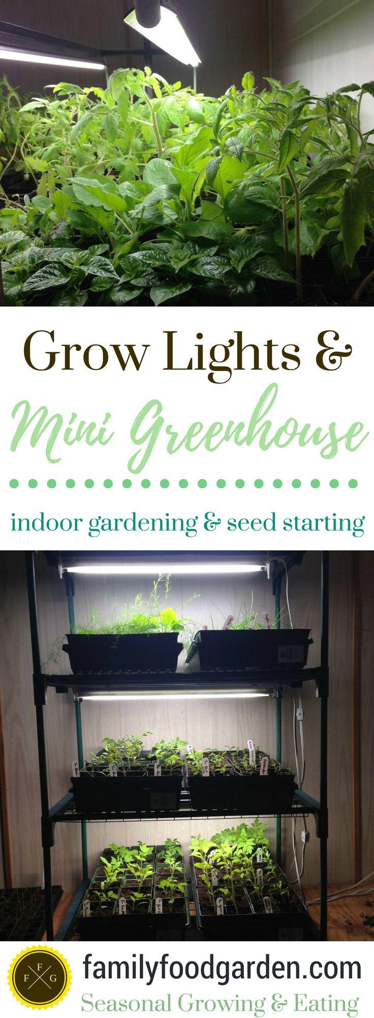Indoor gardening mini greenhouse kit