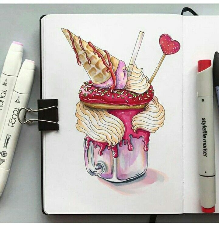 This is the most tastiest and the best drawing of a dessert ever!! creds to the artist!