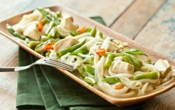 Thai Green Curry Chicken with Rice Noodles. This recipe was inspired by microcredit client Boonlam