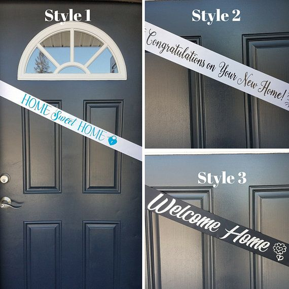 Personalized Sash Housewarming Welcome Home Door Sash Real #welcomehome #homebuyer #newhome #realestate