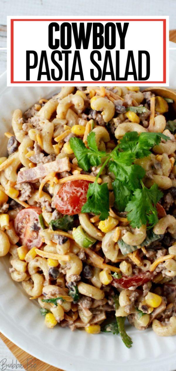 Cowboy Pasta Salad In 2020 Easy Pasta Salad Recipe Healthy Pasta Salad Recipes Summer Pasta Salad Recipes