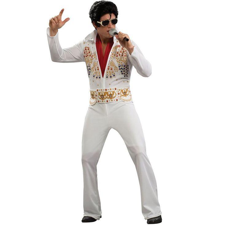 Elvis Costume - Adult, Men's, Size: Large, White