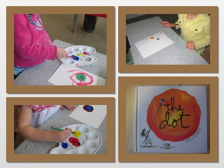 """art based on the book """"The Dot' by Peter H Reynolds"""