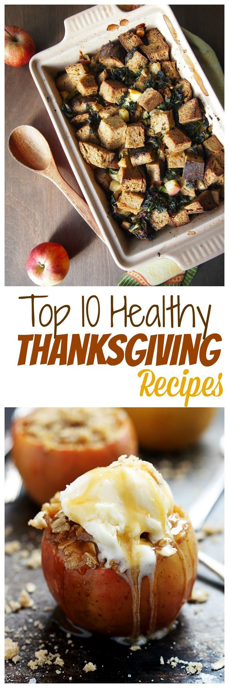 Check out my #foodielicious list of the Best Healthy Thanksgiving #recipes! Thanks to all of my fellow bloggers for their recipes (Creme de la Crumb & Avocado A Day Nutrition pictured)!