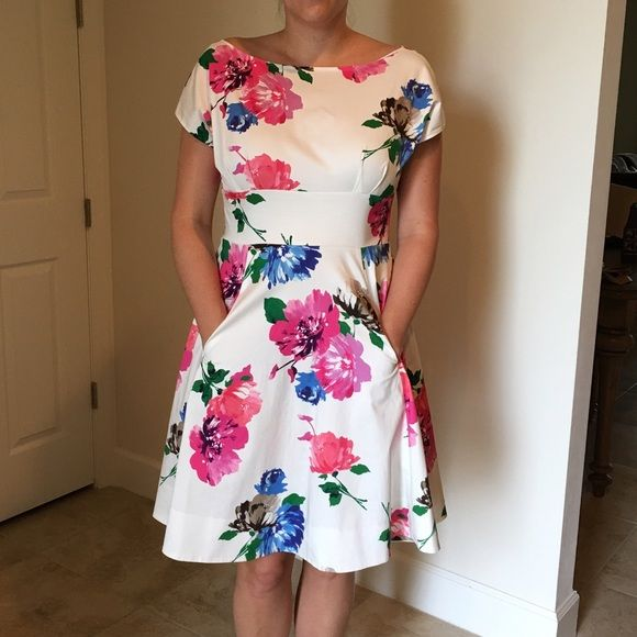 ✨Reduced✨Kate Spade Blooms fit and flair dress Kate Spade Blooms fit and flair dress. In perfect condition worn once to a garden wedding. Perfection!! kate spade Dresses Mini
