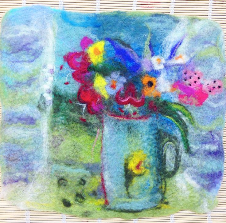 One of my WIP felt pics - inspired by a Winifred Nicholson painting.