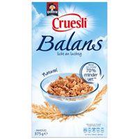 Quaker Balans naturel cruesli- vetarm en vezelrijk- 385 kcal/100 g