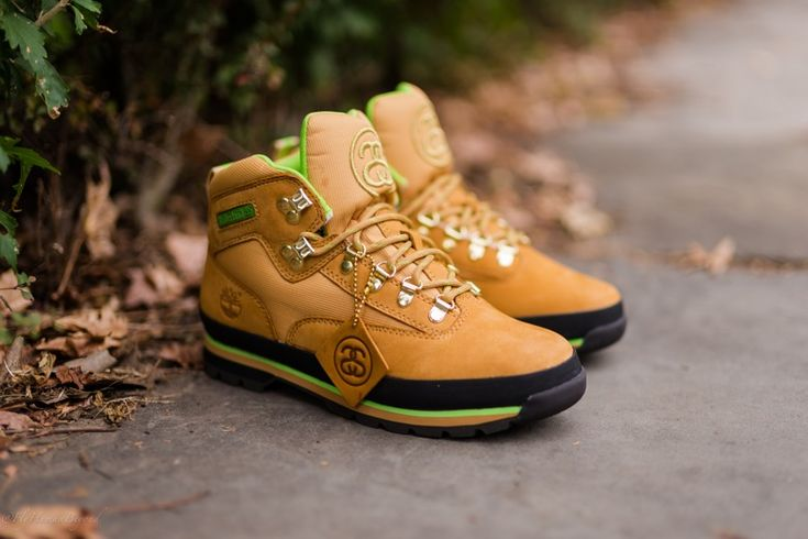 #Stussy x #Timberland Euro Hiker #sneakers