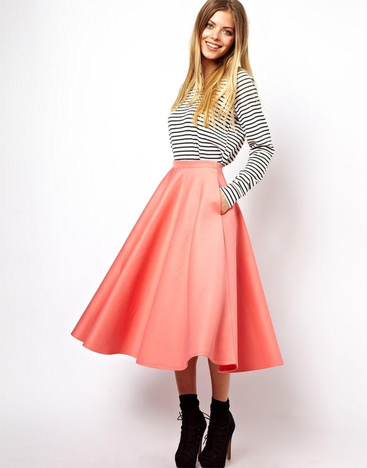 Best 25  Full midi skirt ideas on Pinterest   Full skirt outfit ...