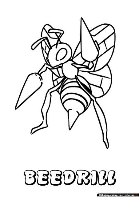 Dibujos de Pokemon para Imprimir y Colorear beedrill