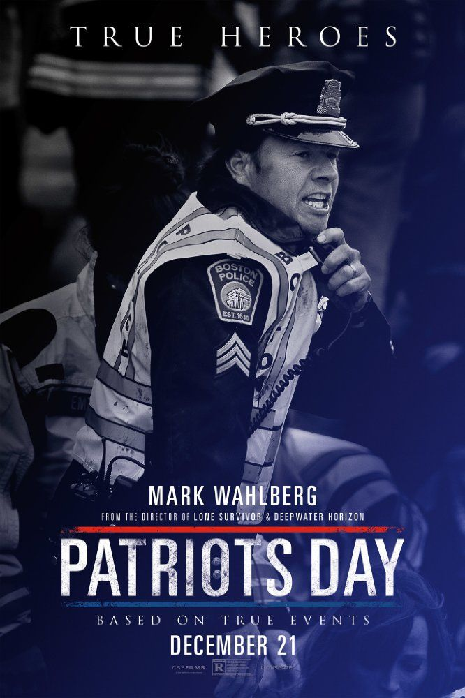 Starring Mark Wahlberg, John Goodman, J.K. Simmons | Drama, History, Thriller | Patriots Day (2016)