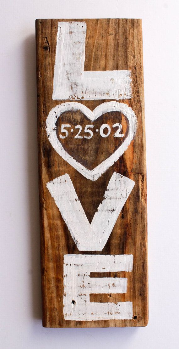 Custom Rustic White Wedding Sign Decor Personalized Date Love Wedding Sign Beach Wedding Reception Reclaimed Distressed Wood Photo Prop on Etsy, $25.00