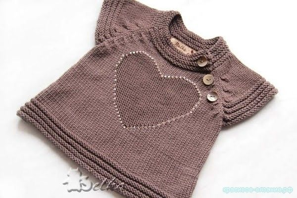 Вязание для детей спицами с описанием Описание вязания кофточки для девочки спицами