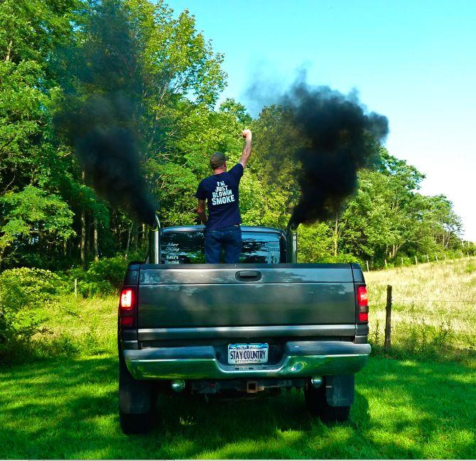 """IM JUST BLOWIN SMOKE"" Tractor Pull Tee, Stay Country Clothing, country, country boy, cute country boy, yeehaw, redneck, truck, diesel pick-up truck, roll coal, black smoke, dodge ram staycountryclothing.storenvy.com"