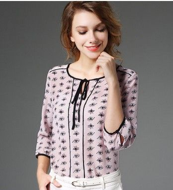 7 minutes of sleeve pink eyes 100% silk blouse mulberry silk shirt collar lace
