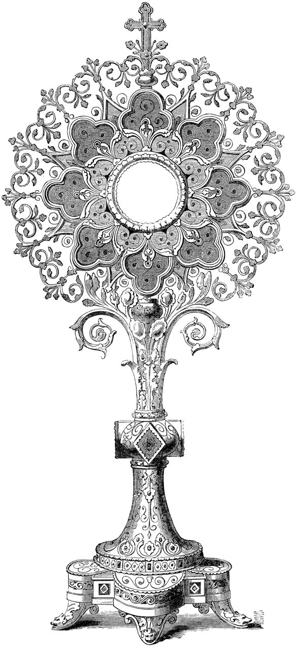 monstrance coloring pages for kids - photo#17