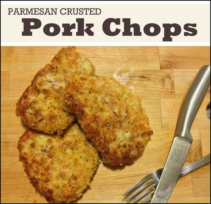 Parmesan Crusted Pork Chop Recipe!