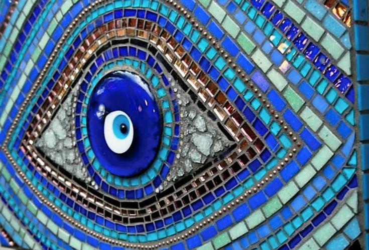 mosaic tile evil eye