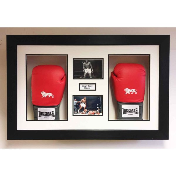 Display Your Signed Boxing Gloves And Photos Signature In This Amazing Designed Boxing 3d Fr Boxing Glove Display Case Boxing Glove Display Boxing Display Case