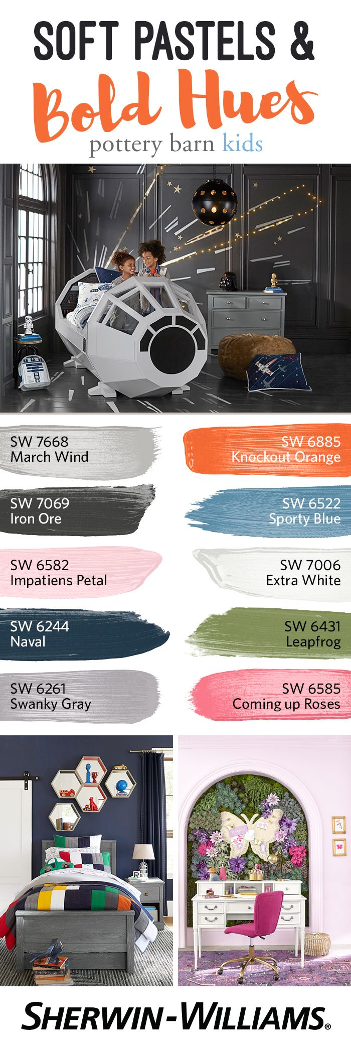 Pottery barn paint colors 2013 - Let The Seasons Inspire You With Bold Fall Hues Like Knockout Orange Sw 6885 And Iron
