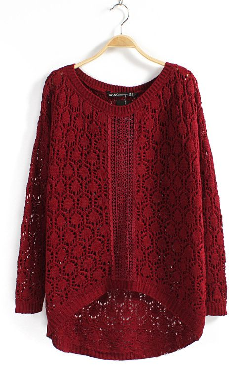 Openwork Jaquard Cable-knit Sweater