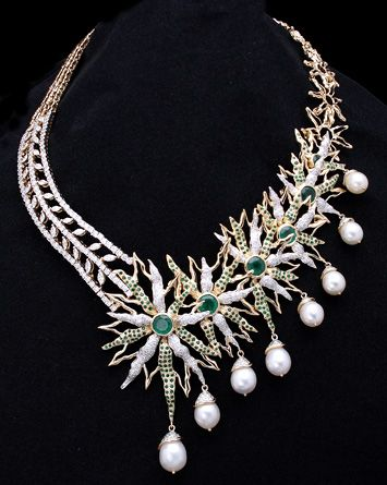 Tribhovandas Bhimji Zaveri Ltd. Jewellers choice design awards Mumbai India, Indian jewellery design awards. #pearls