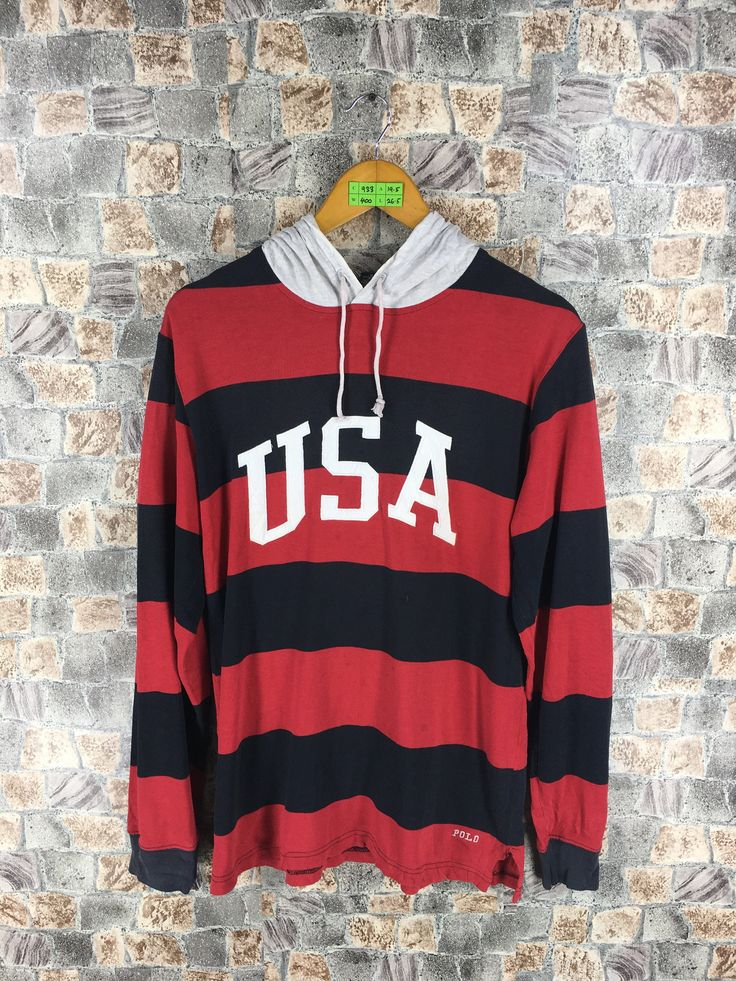 Vintage POLO SPORT Hoodie Sweater Large Ralph Lauren Polo