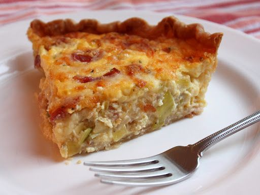 A Quiche Lorraine. I used a normal swiss and it was excellent!! i used mostly leeks with a few onions.