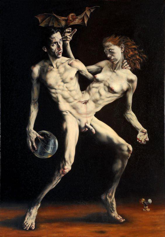 Erotismo Retratado En Estilo Clásico De Pintura | Alternopolis argentino Gabriel Grun,