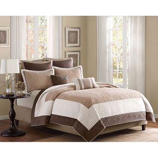 @Overstock - Madison Park Danville 7-piece Coverlet Set - This neutral coverlet set is designed to coordinate easily with any bedroom. The 100 percent polyester microfiber cover is machine washable for convenience. The set includes one quilted coverlet, two pillow shams, two euro shams, and two pillows. http://www.overstock.com/Bedding-Bath/Madison-Park-Danville-7-piece-Coverlet-Set/6737571/product.html?CID=214117 $86.99