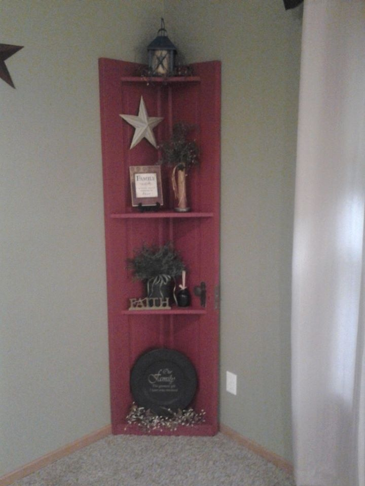 Our old door into shelf project & 63 best Old Door Projects images on Pinterest | Old doors ... pezcame.com