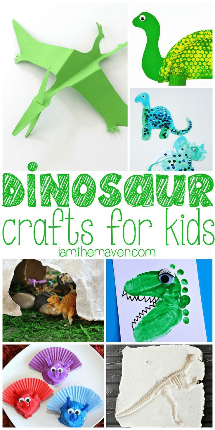837 best having fun with kids images on pinterest craft for Dinosaur crafts for preschool