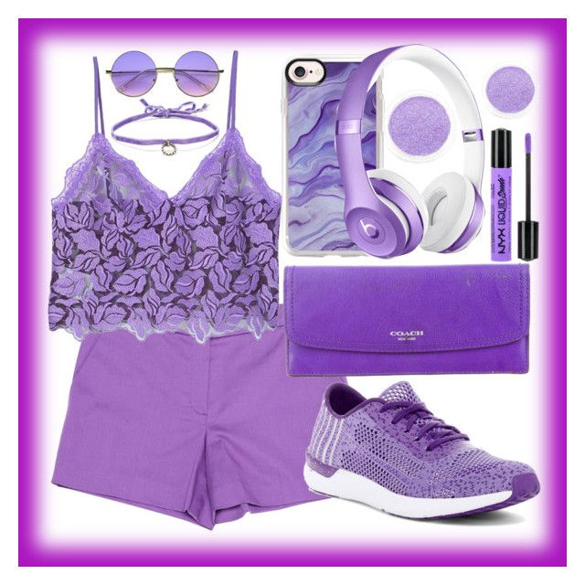 """""""#PURPLE"""" by mileyharbee on Polyvore featuring Sonia by Sonia Rykiel, MANGO, Jessica Simpson, Coach, ZeroUV, DANNIJO, Casetify and NYX"""