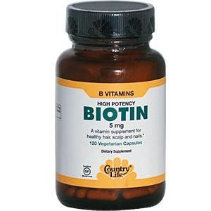 Country Life High Potency Biotin 5 mg Vegetarian Capsules, 120-Capsules ( Multi-Pack) by Country Life. $39.02. Quantity: MULTI VALUE PACK! You are buying Description: BIOTIN,HIGH POTENCY,5 MG Unit Size: 120 VCAP Brand: COUNTRY LIFE VITAMINS. Attributes: Vegan, (Please check the manufacturer's details for contents as we are unable to guarantee ingredient details and they may change without notice).. DOUBLE VALUE PACK! You are buying TWO of Country Life High Potency Bi...