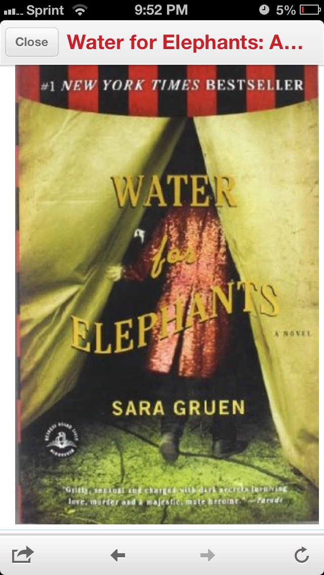 Water for Elephants ... worth reading