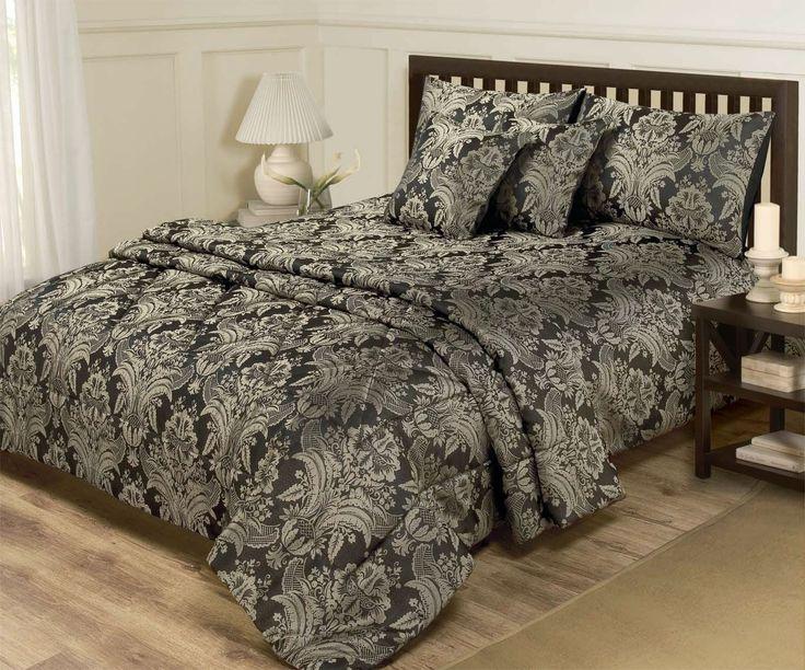 6 PIECE JACQUARD BLACK & GOLD BEDDING - KING SIZE DUVET SET & BEDSPREAD THROW: Amazon.co.uk: Kitchen & Home £59.99 + £5.61 delivery