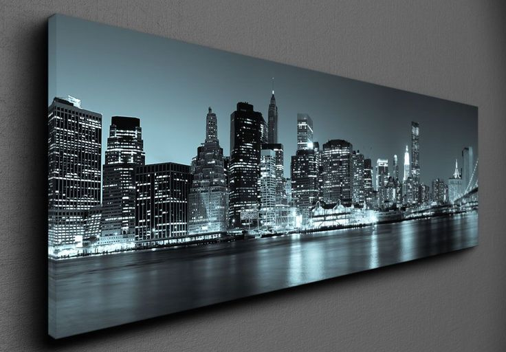 Panoramic view by night - Canvas