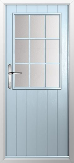 composite door example of cottage grill in duckegg blue high quality secure and