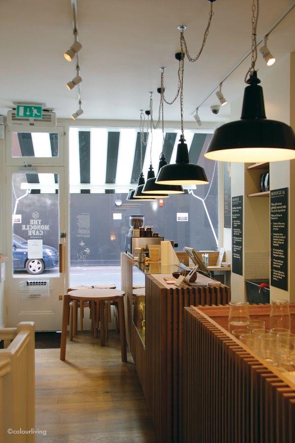 Monocle Café, Chiltern Street  http://colourliving.co.uk/the-monocle-cafe