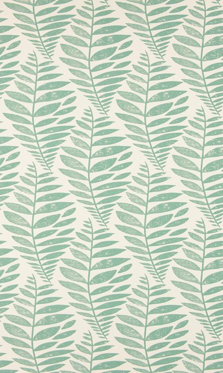 No word on who's behind this hand block printed pattern which I'm guessing is wallpaper and Swedish. Love the colour and movement. Would love to know who this is by.