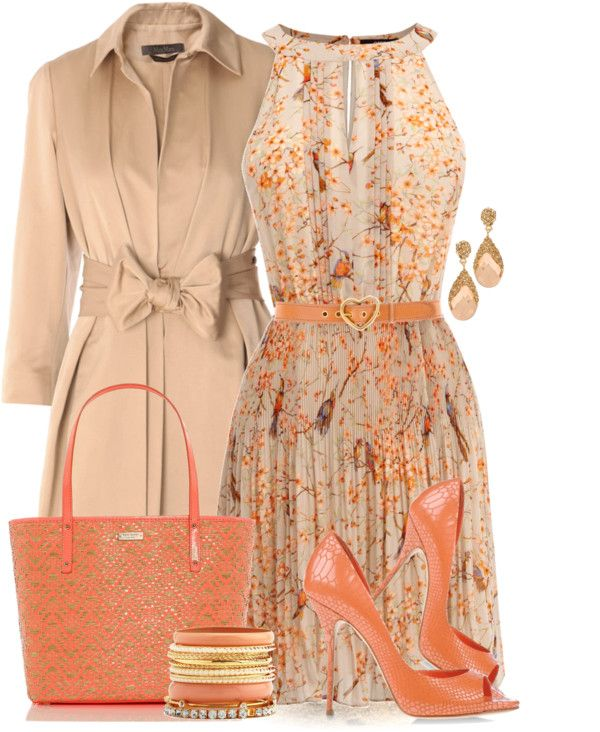 """Coral For Spring"" by yasminasdream ❤ liked on Polyvore"