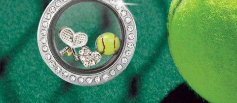 Makes me want to take up tennis! :) www,LocketsByLiz.com Let me help you create a custom Origami Owl necklace!